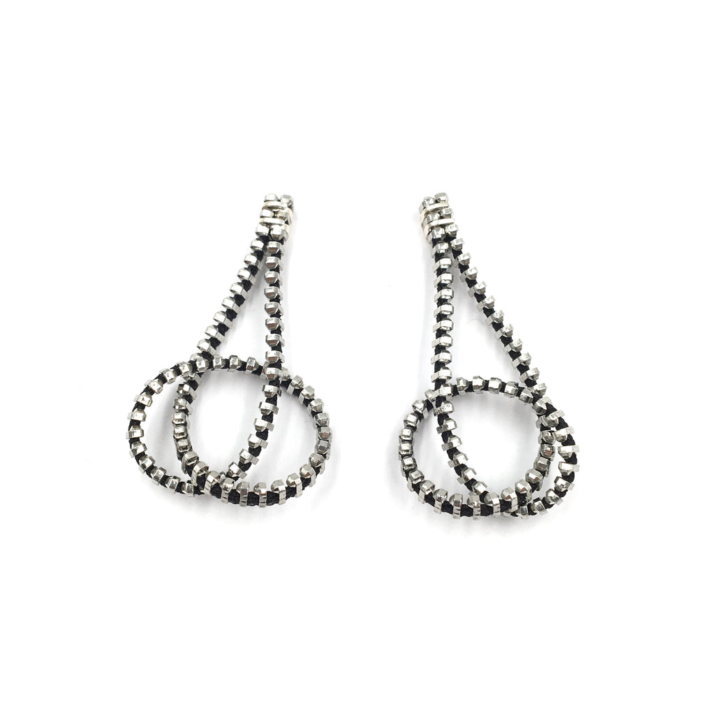Loop Earrings, Silver