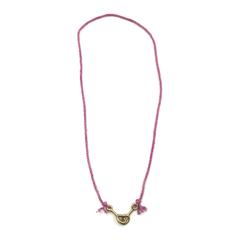 Sister Clasp Necklace, Cochineal Cord