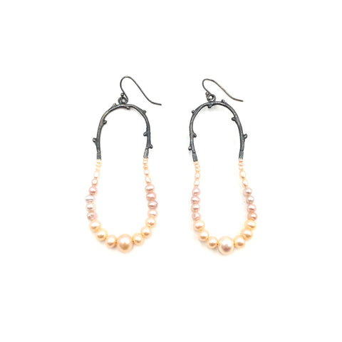 Maxima Earrings, Blush Pearl