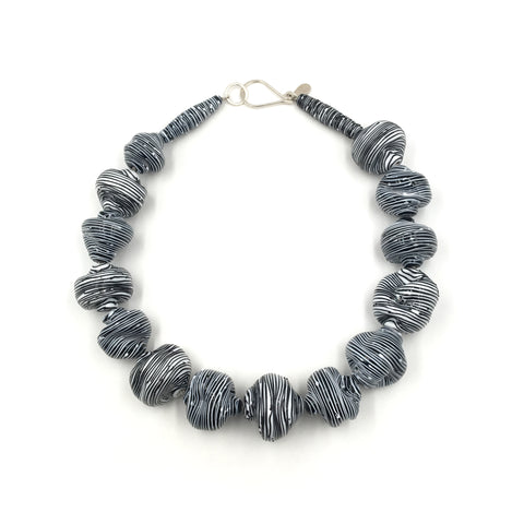 Abstract Necklace, Black And White