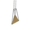 Foundation Long Trapezoid Necklace, Gold Vinyl