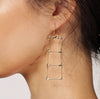 Ladder Earrings, Silver