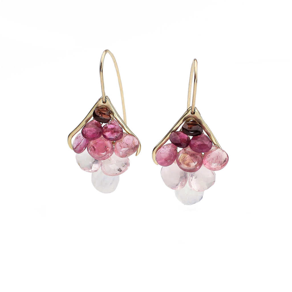 Small Plumage Earrings, Pink Ombré