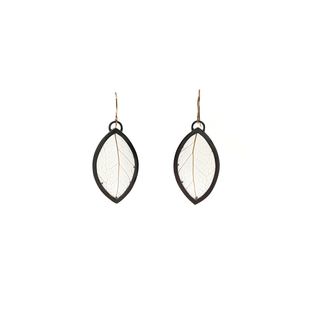 Leaf Marquis Earrings, Small