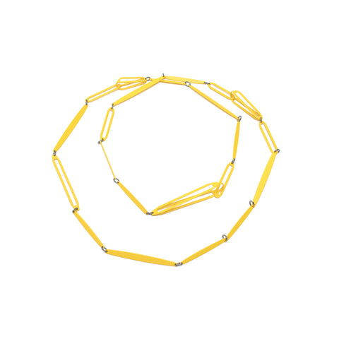 Long Link Necklace, Yellow