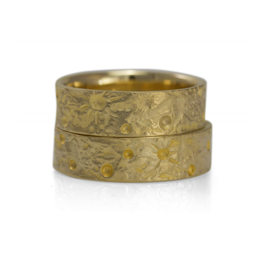 Moon Texture Ring, Gold