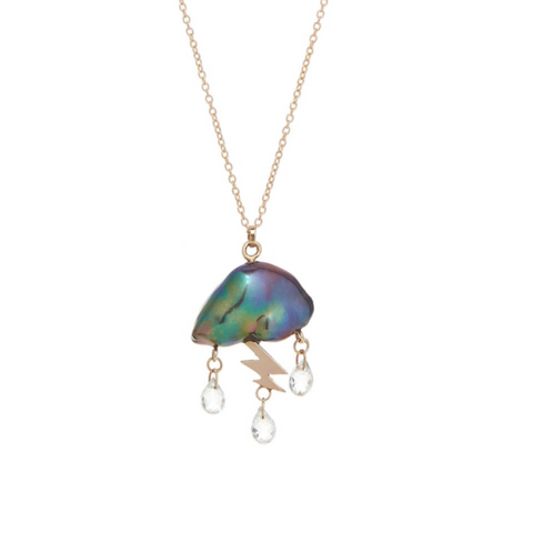 Petite Storm Cloud Necklace
