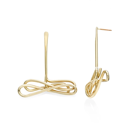 Anchor Yourself Earrings, Gold