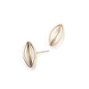 Gold Pod Earrings, Small