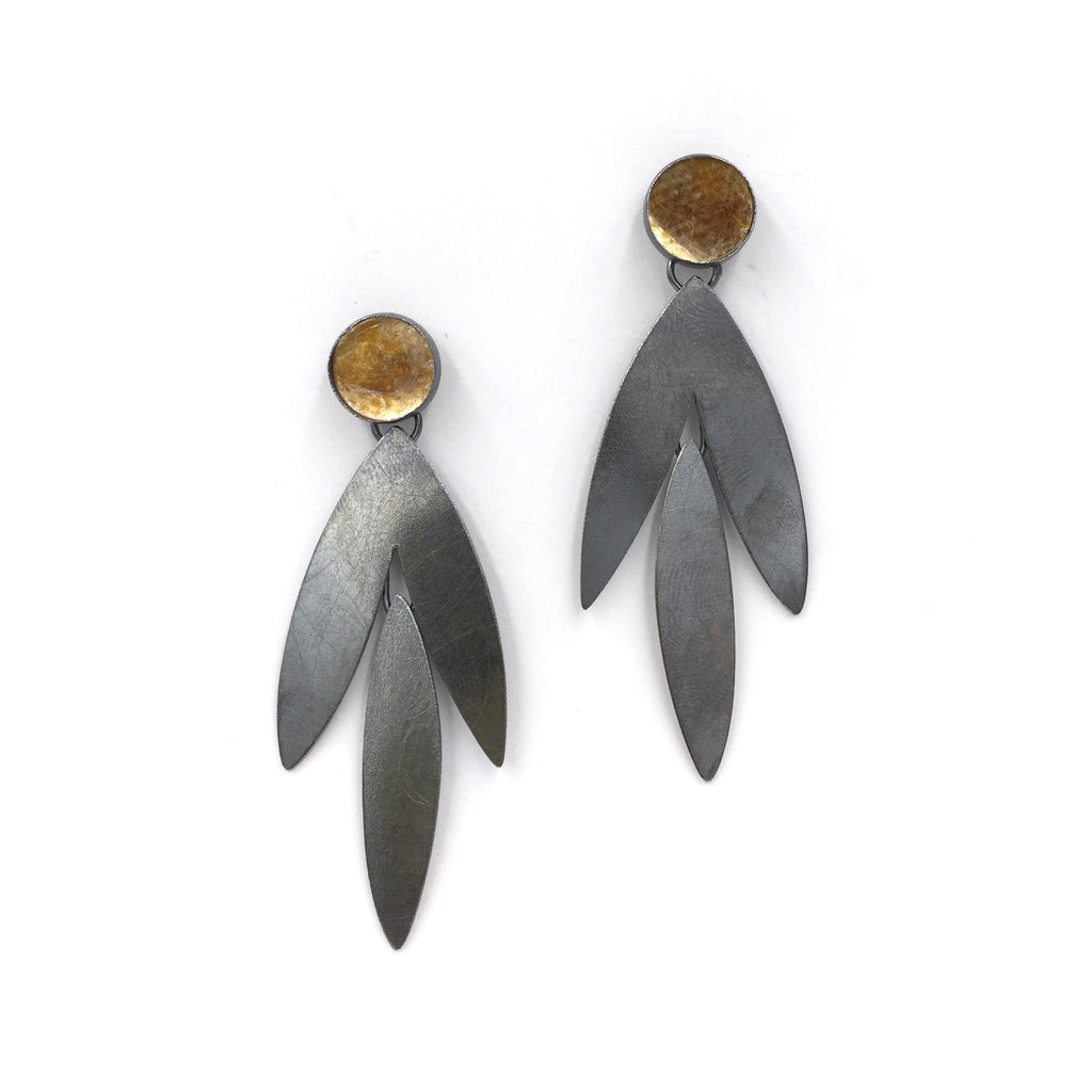 Mica Earrings, Symmetrical Flutter Posts