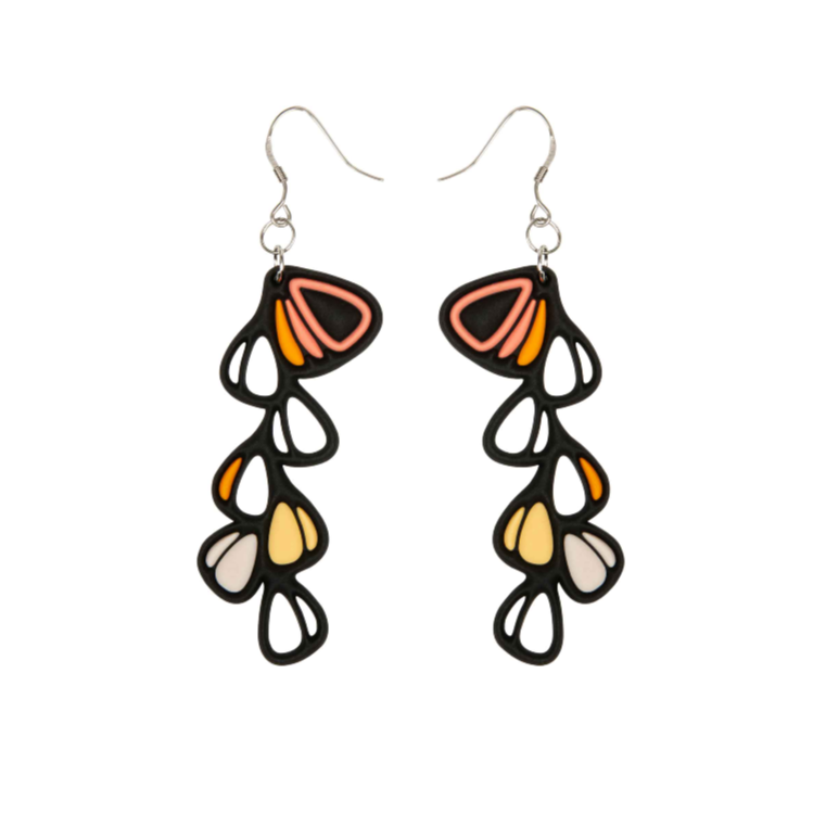 Dahlia Earrings, Pastel