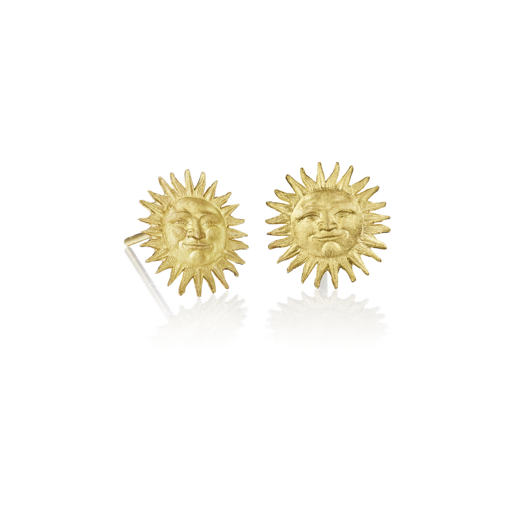 Tiny Surface Stud Earrings