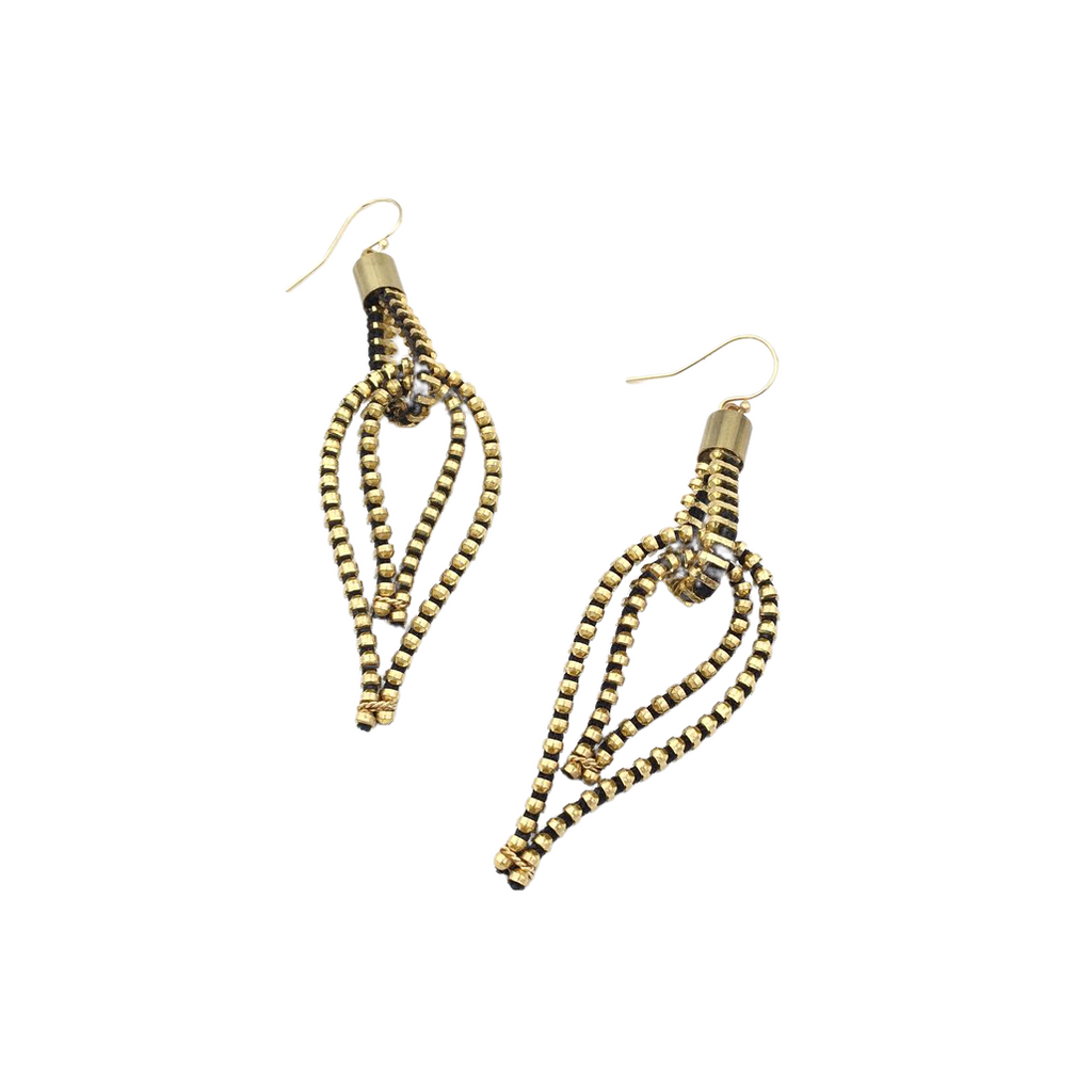 Feather Earrings, Gold