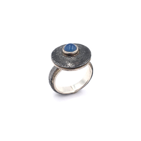 Blue Agate Nail Ring