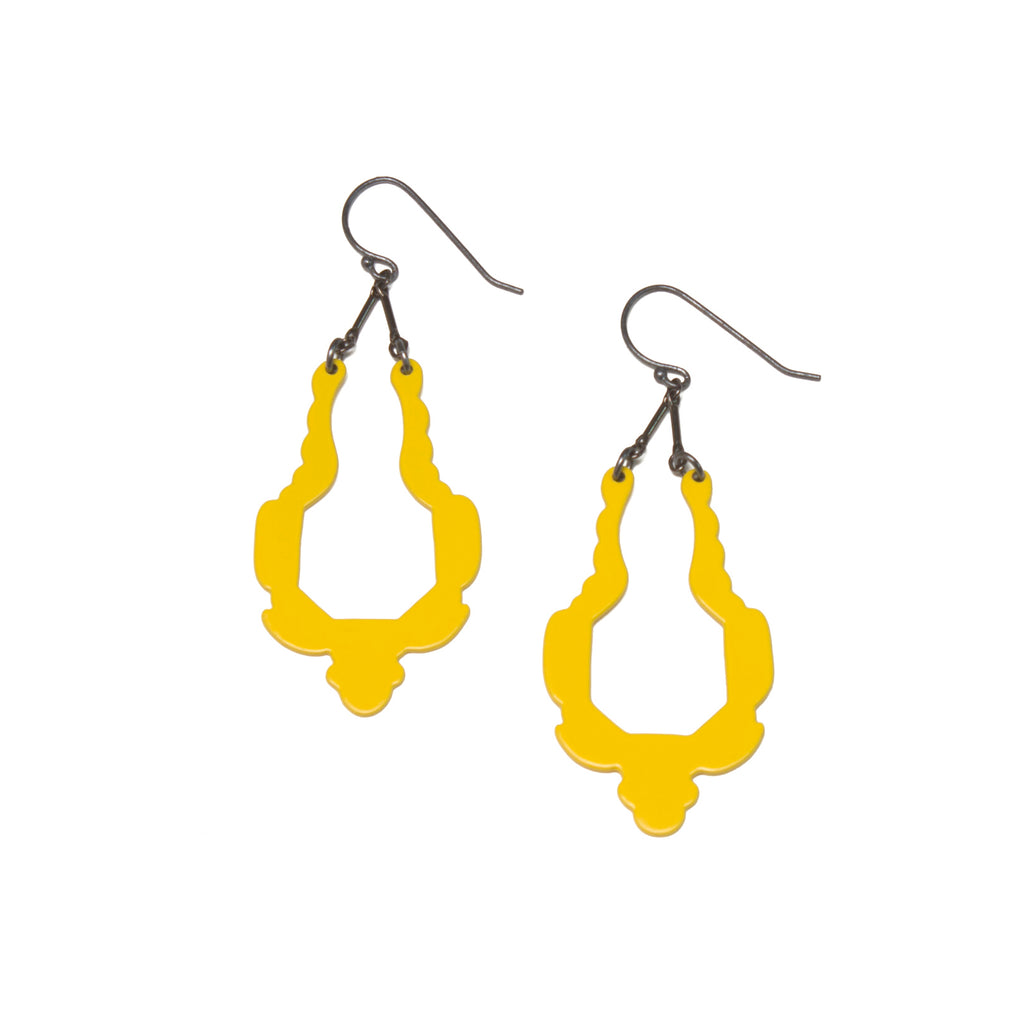 Simple Silhouette Dangles, Yellow
