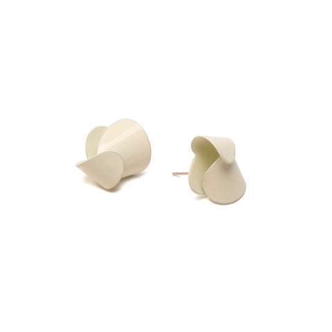 Large Folded Studs, Pale Yellow