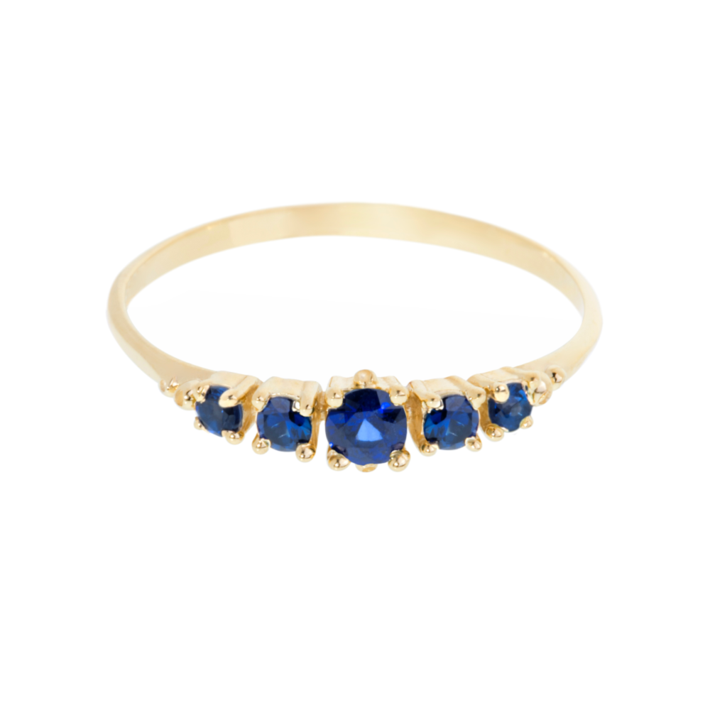 321 Ring, Blue Sapphire