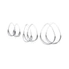 Skeleton Crescent Hoops, Medium
