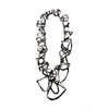 Oval Earrings, Red & Orange