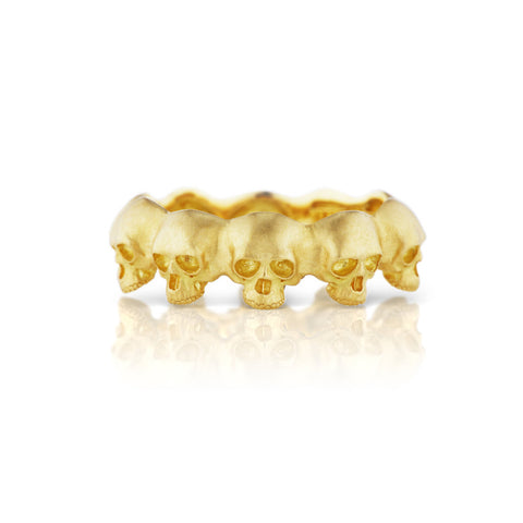 Gold Skull Eternity Band