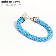 Load image into Gallery viewer, Turquoise Crocheted Bracelet