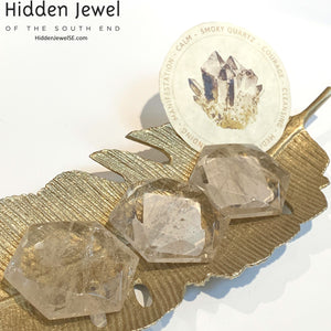 Smokey Quartz Octagon/ Star of David Healing Stone