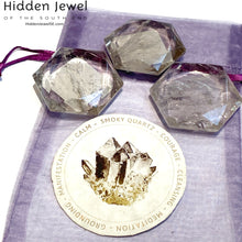 Load image into Gallery viewer, Smokey Quartz Octagon/ Star of David Healing Stone