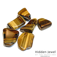 Load image into Gallery viewer, Tiger Eye Healing Stone Tumbles, golden tiger eye, red tiger eye, blue tiger eye