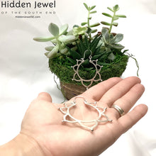 Load image into Gallery viewer, Sterling silver mandala flower hoops