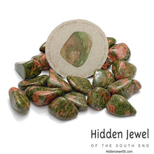 Load image into Gallery viewer, Unakite Healing Stone Tumbles