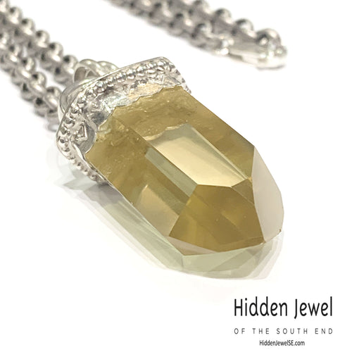 Citrine Point Sterling silver necklace