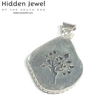 Load image into Gallery viewer, Dendritic Agate pendant with sterling silver, tree of life cute out, gemstone pendant, agate pendant, unisex pendant, sterling silver (P11)