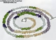 Load image into Gallery viewer, Citrine, Peridot, Amethyst and Quartz Necklace