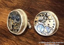 Load image into Gallery viewer, Circle Watch component Sterling Silver Cuff links
