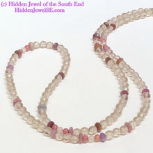 Load image into Gallery viewer, Cape Amethyst Necklace, Faceted Gemstone necklace, with genuine ruby