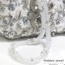 Load image into Gallery viewer, Beaded Wedding purse, wedding clutch, wedding accessories, hand made
