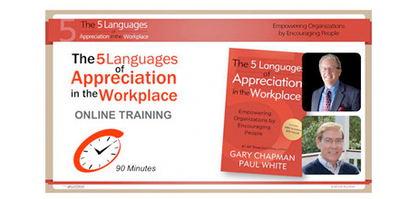 Individual Online Tutorial of 5 Languages of Appreciation in the Workplace (CFA)