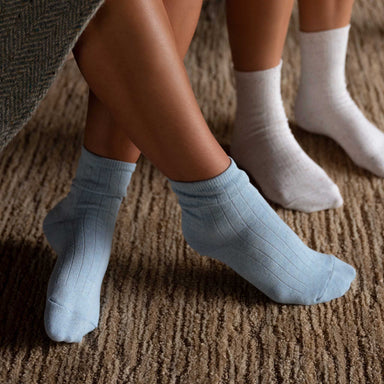 Nisolo - Cotton Mid Sock Celeste