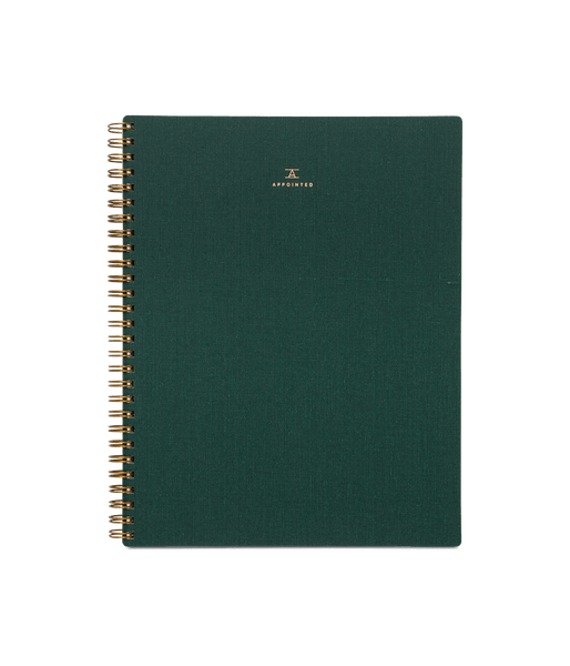 Appointed Notebook - Hunter Green Grid Lifestyle Appointed LLC