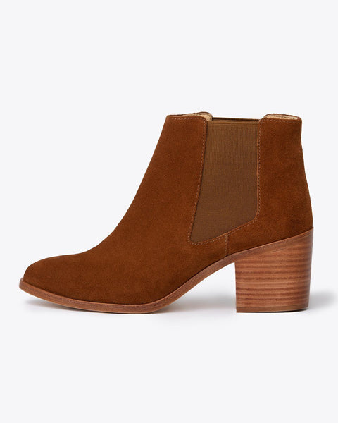 Heeled Chelsea Boot Nutmeg Women's Leather Boot Nisolo