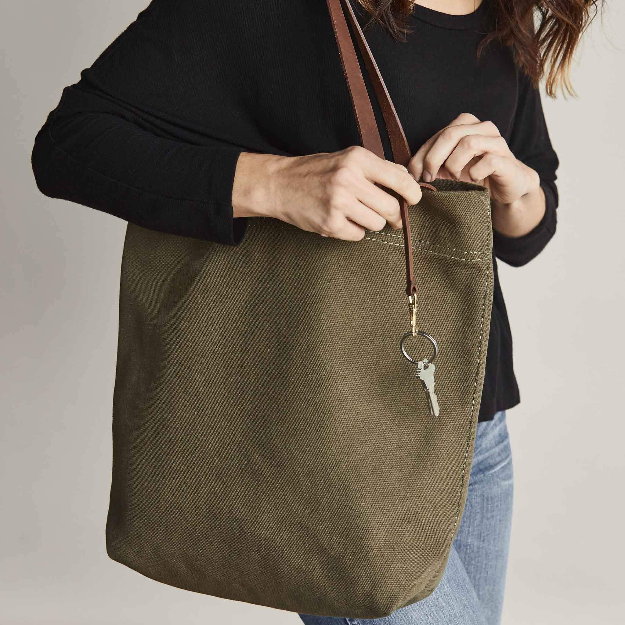 Nisolo - Canvas Tote Olive Green