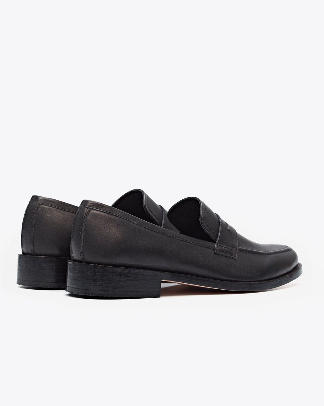 Chamberlain Penny Loafer Black/Black Men's Leather Loafer Nisolo