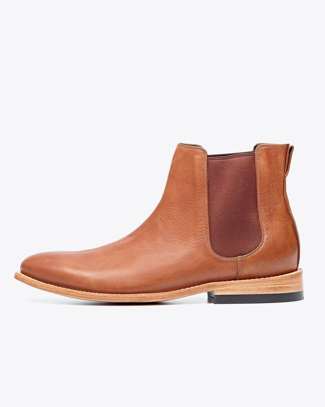 Nisolo Men's Chelsea Boot Saddle Brown