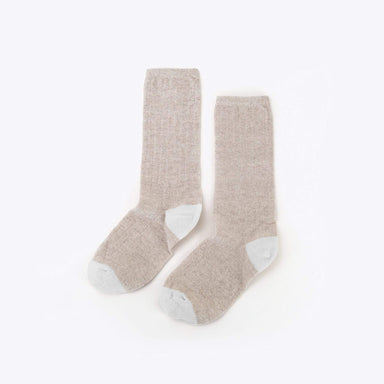 Nisolo - Cotton Crew Sock Tan/White