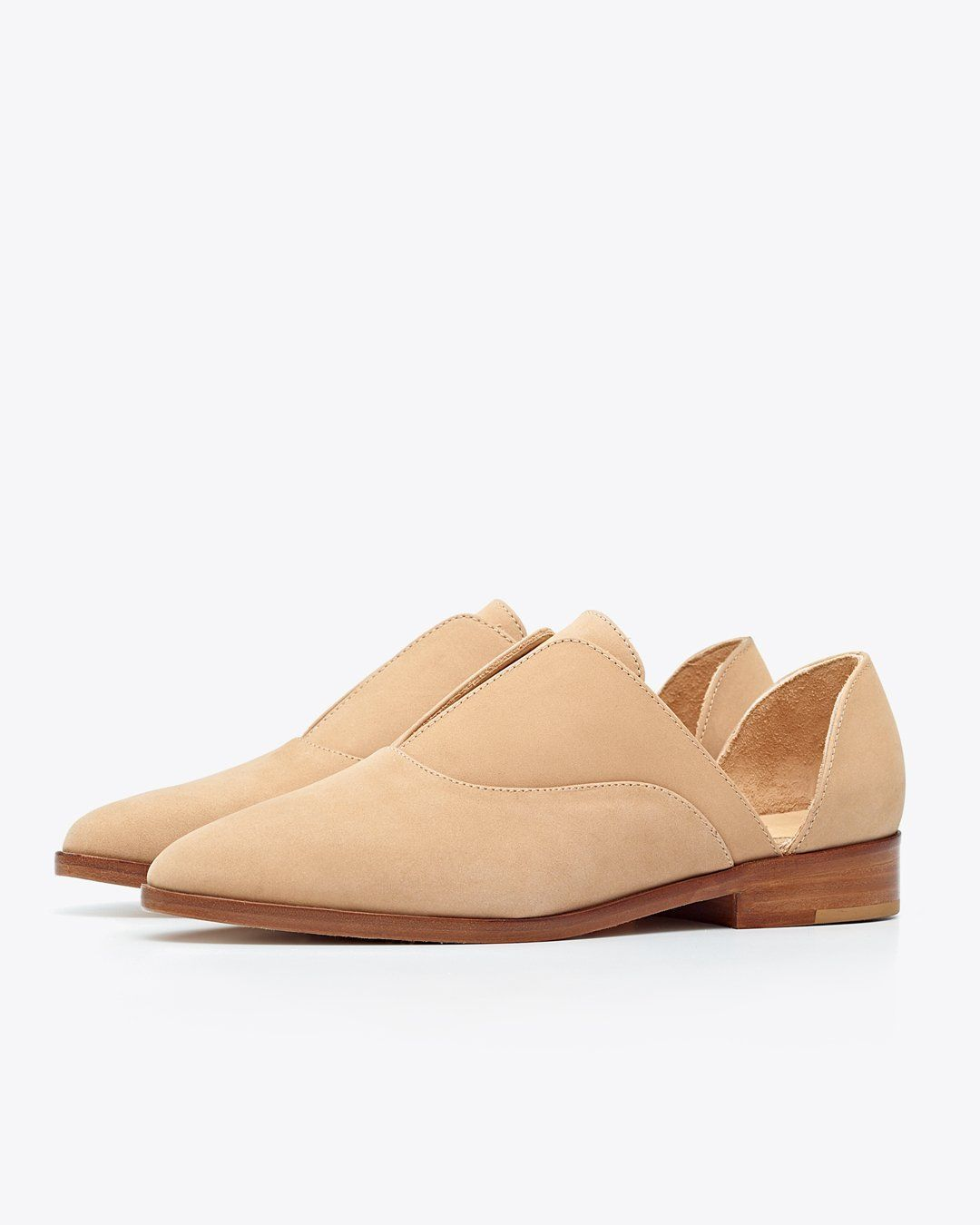 Emma d'Orsay Oxford Wheat Women's Leather Oxford Nisolo