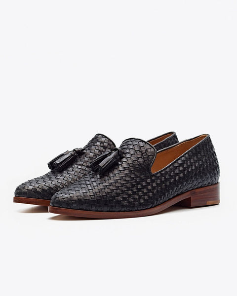 Frida Woven Loafer Black