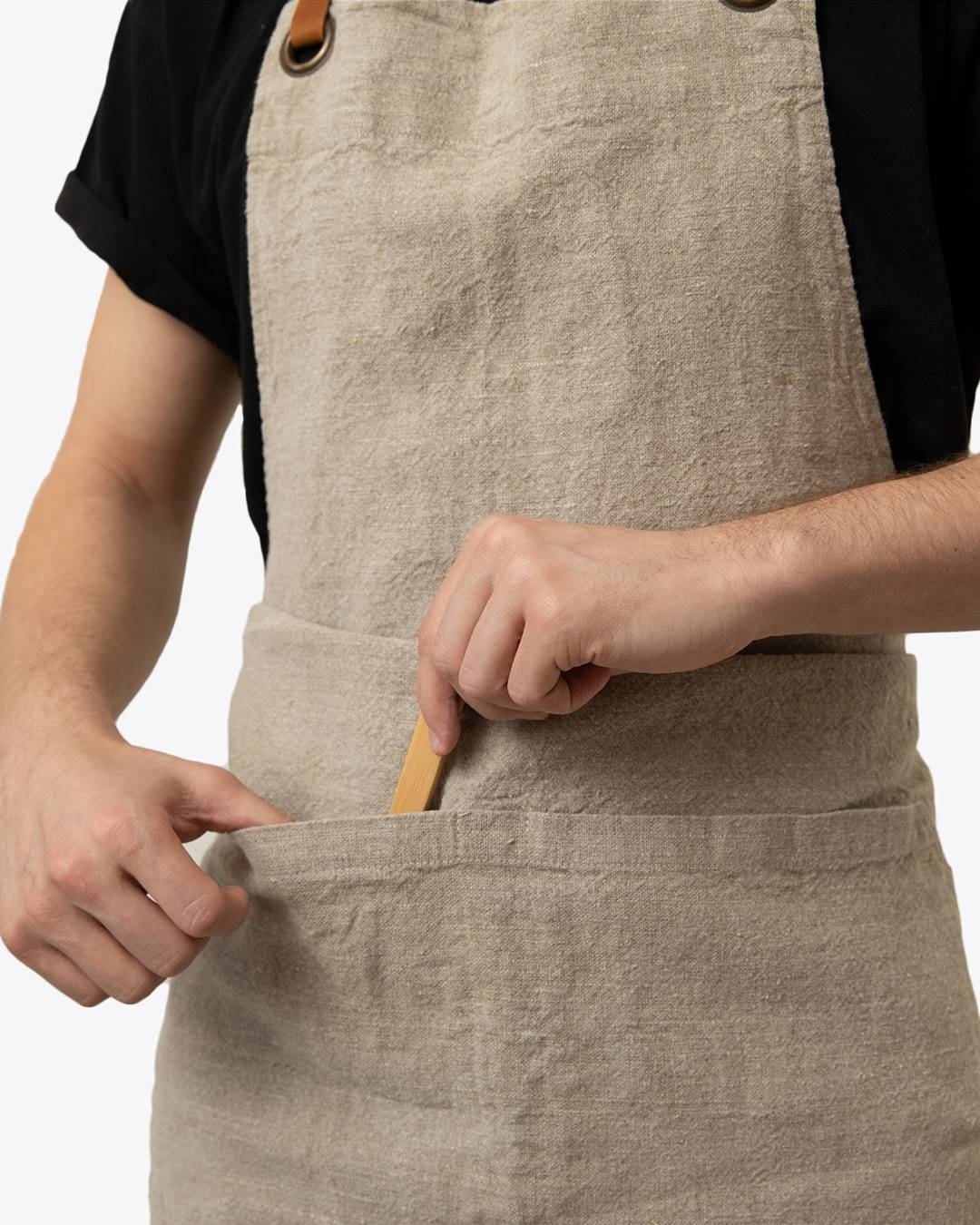 Linen Tales Natural Washed Linen Luxury Apron Linen Tales