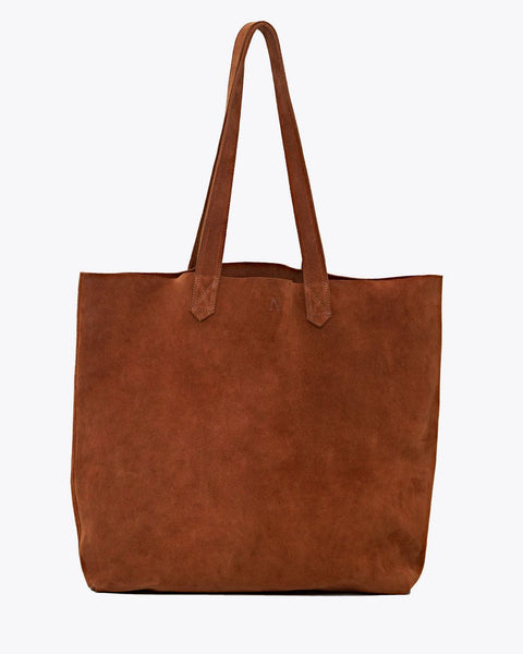 Lori Tote Nutmeg Leather Handbag - unlined Nisolo