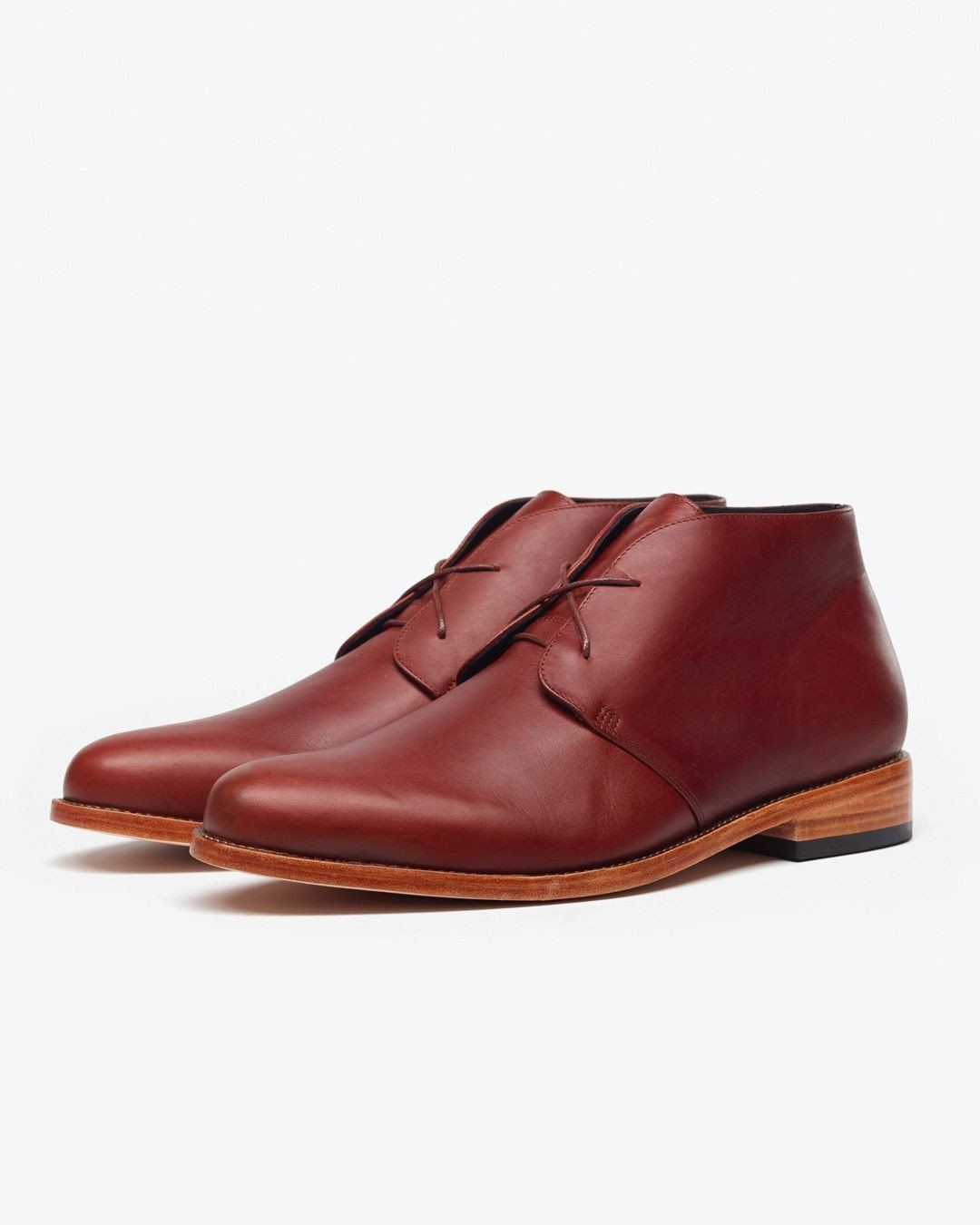 Luca Chukka Boot Brandy Men's Leather Chukka Boot Nisolo