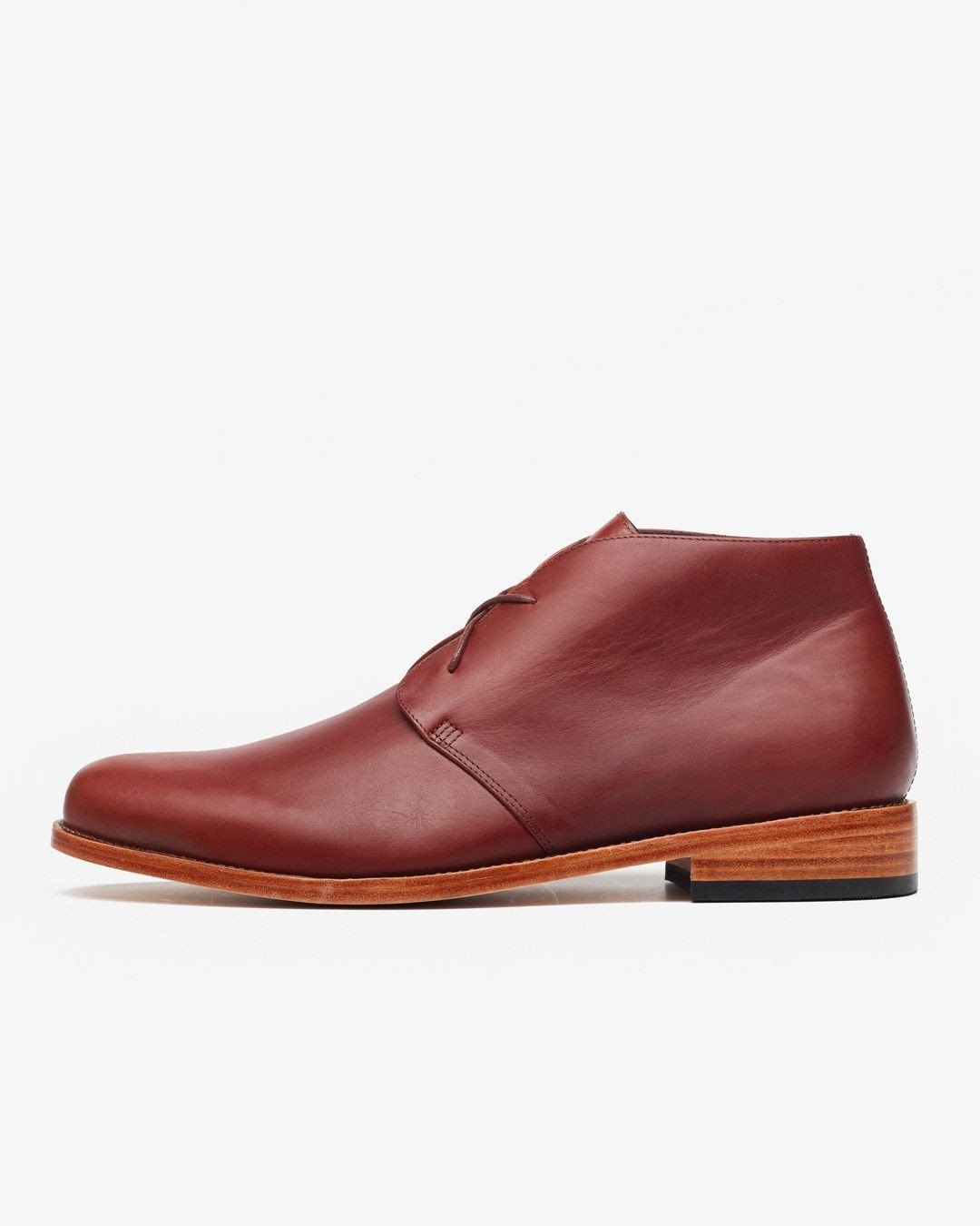 Nisolo Men's Luca Chukka Boot Brandy